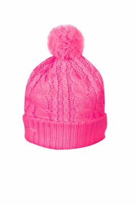 Glenmuir Ladies Cable Knit Bobble Golf Hat