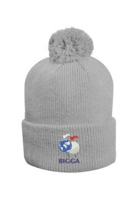 Official Ryder Cup 2018 Unisex Merino Thermal Lined Rib Bobble Hat with Turn Up
