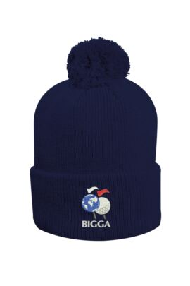 Mens And Ladies Thermal Lined Turn Up Rib Merino Golf Bobble Hat
