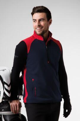 Mens Zip Neck Showerproof Performance Golf Wind Gilet