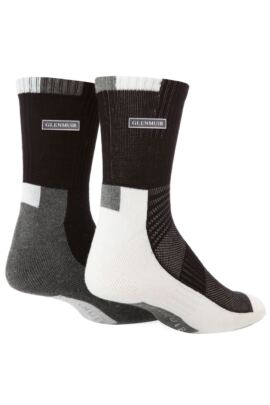 Mens 2 Pair Bamboo Ankle Length Half Cushioned Sports Socks with Arch Support