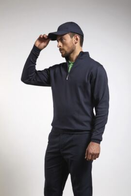 Glenmuir Mens Zip Neck Interlock Jersey Golf Mid Layer - SALE