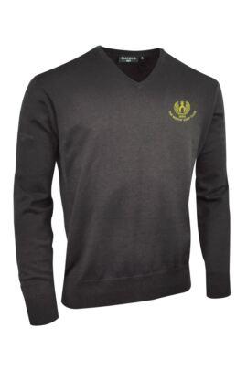 Moffat GC Glenmuir Mens V Neck Cotton Golf Sweater