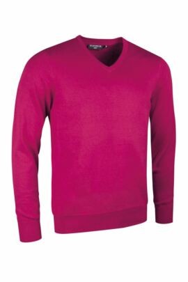 Mens Supersoft Cotton V Neck Golf Sweater - Sale