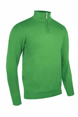 Glenmuir Mens Zip Neck Lightweight Cotton Golf Sweater - Sale