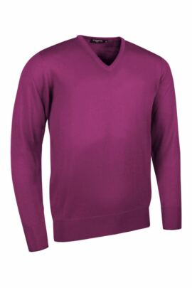 Glenmuir Mens V Neck Merino Wool Golf Sweater - Sale