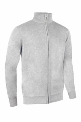 Glenmuir Mens Cotton Zip Front Lightweight Stretch Lined Sweater - Sale
