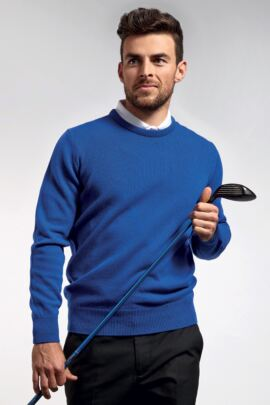 Glenmuir Mens Crew Neck Lambswool Golf Sweater