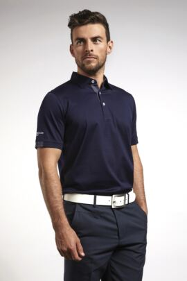 Mens Tartan Cuff and Placket Mercerised Cotton Tailored Collar Golf Polo