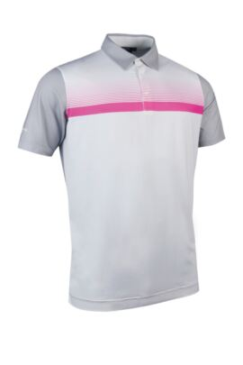 Glenmuir Mens Performance Jersey Printed Stripe Polo - Sale