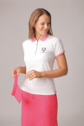 Official Ryder Cup 2018 Ladies Performance Pique Zip Neck Polo