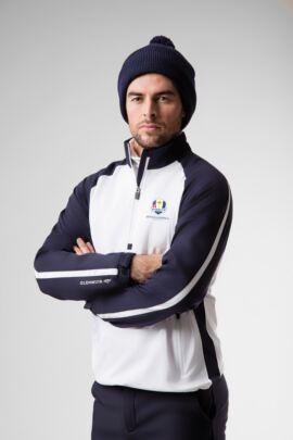 Official Ryder Cup 2018 Mens Zip Neck Showerproof Stripe Panelled Performance Golf Windshirt