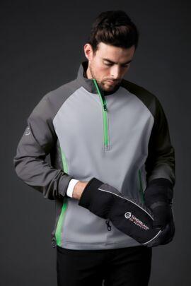 Mens Zip Neck Raglan Panelled Showerproof Golf Windshirt