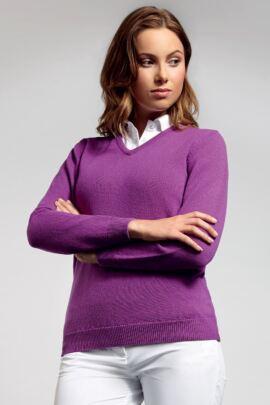 Glenmuir Ladies V Neck Lambswool Golf Sweater