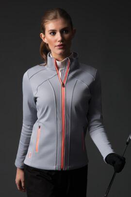 Ladies Zip Front Lightweight Water Repellent Fleece Golf Jacket