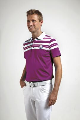 Glenmuir Ryder Cup 2014 Fanwear Ochil 100% Mercerised Cotton Polo Shirt with Contrast Collar and Shoulder Stripes