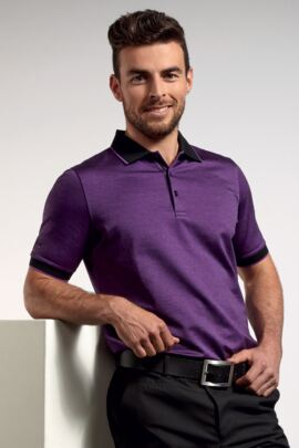 Glenmuir Mens Oxford Tipped Golf Polo Shirt - SALE