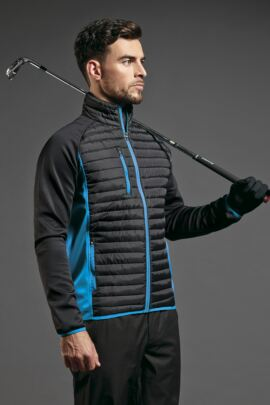 Mens Zip Front Padded Golf Jacket