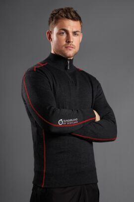 Sunderland Mens Pampero Lined Zip Neck Golf Sweater - Sale