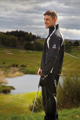 Sunderland Resort Convertible Weatherbeater Ultra-soft Lightweight Waterproof Golf Jacket - Sale