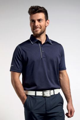 Mens Diamond Body-Mapping Performance Tailored Collar Golf Polo Shirt