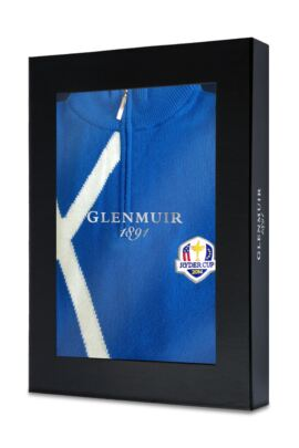 European Ryder Cup 100% Cashmere Saltire Zip Neck Sweater - Limited Edition Commemorative Sweater