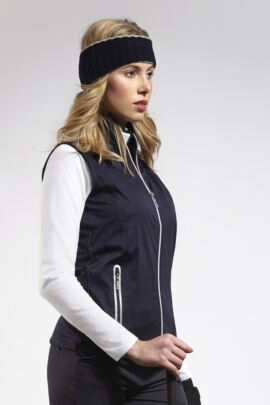 Ladies Water Repellent Embossed Patterned Zip Front Performance Gilet