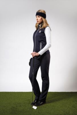 Official Ryder Cup 2018 Ladies Water Repellent Embossed Patterned Zip Front Performance Gilet