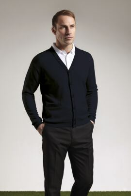 Mens Lambswool Button Front Cardigan