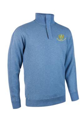 Moffat GC Glenmuir Mens Zip Neck Textured Sleeve Lined Golf Sweater