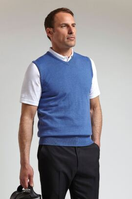Mens V Neck Cashmere Golf Slipover