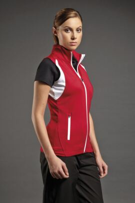 Ladies Lightweight Zip Front Fleece Golf Gilet
