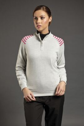 Sunderland Ladies Calima Lined Zip Neck Golf Sweater - Sale