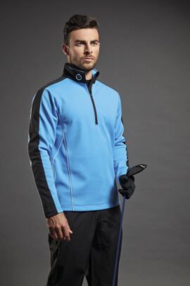Sunderland Mens Chamonix Long Sleeve Zip Neck Mid Layer Golf Top