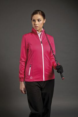 Sunderland Ladies Stitch Detail Zip Front Golf Wind Jacket