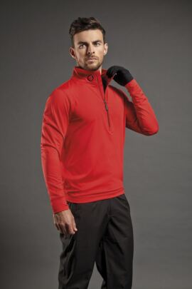 Sunderland Mens Zip Detail Stretch Golf Mid Layer
