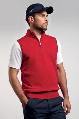 Glenmuir Mens Lightweight Cotton Zip Neck Slipover