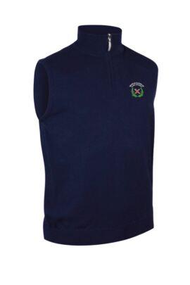 OLGS Glenmuir Mens Lightweight Cotton Zip Neck Slipover