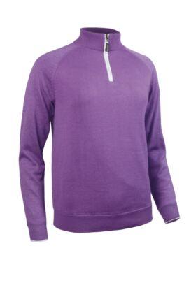 Ladies Cotton Lined Zip Neck Sweater - Sale