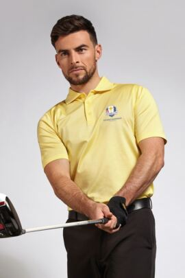 Official Ryder Cup 2018 Glenmuir Mens Plain Mercerised Golf Polo Shirt