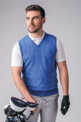Mens V Neck Cotton Golf Slipover