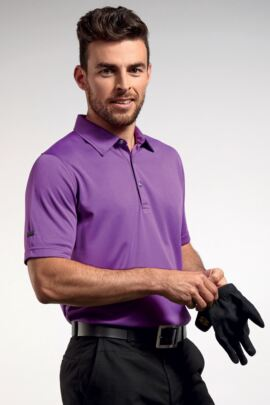 Glenmuir Mens Technical Bamboo Performance Golf Polo Shirt