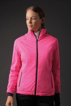 Ladies Zip Front Contrast Stitch Thermal Lined Waterproof Golf Jacket