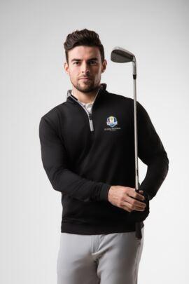 Official Ryder Cup 2018 Mens Zip Neck Lightweight Performance Golf Midlayer