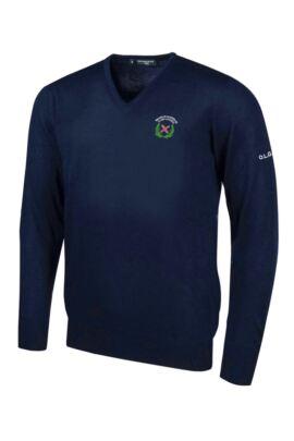 OLGS Glenmuir Mens V Neck Merino Wool Golf Sweater