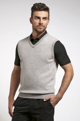 Mens V Neck Lambswool Golf Slipover