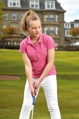 Glenmuir Girls Cotton Pique Polo Golf Shirt - Sale