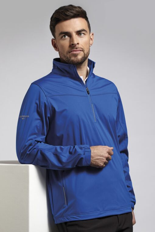 Mens Zip Neck Water Repellent Performance Golf Windshirt