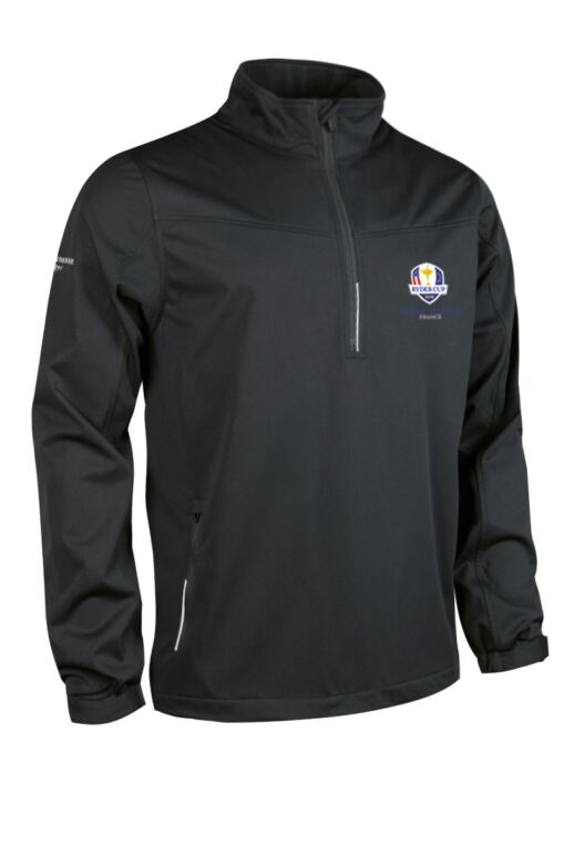 Official Ryder Cup 2018 Mens Zip Neck Water Repellent Performance Golf Windshirt