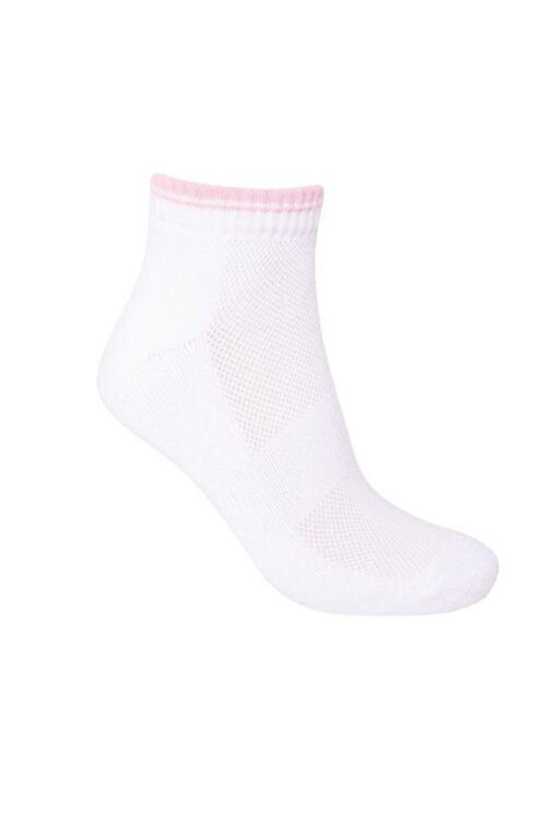 Ladies 2 Pair Pack Tipped Cotton Golf Anklet Socks
